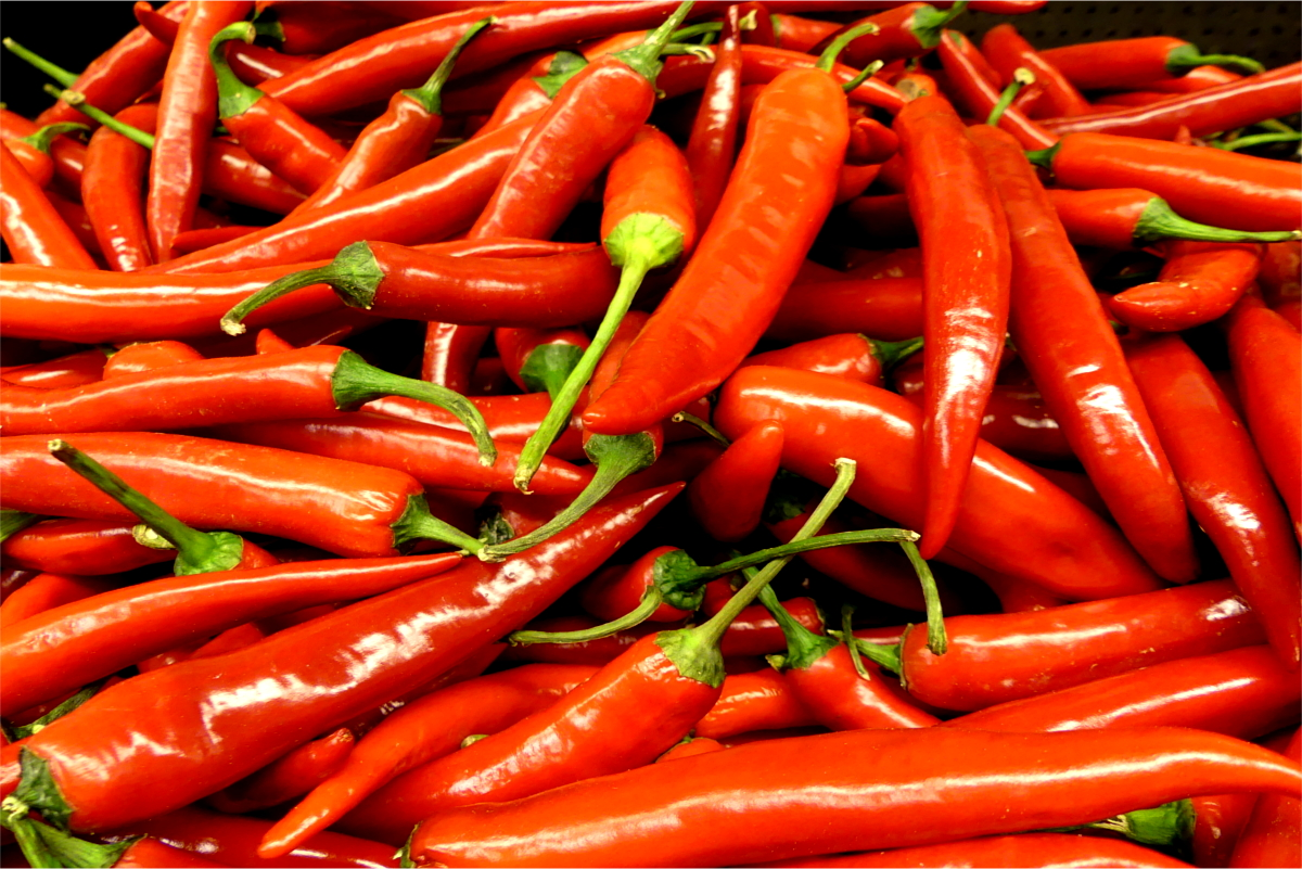 Many red Chili Peppers, Chili peppers cuts risk of death from heart attack and stroke